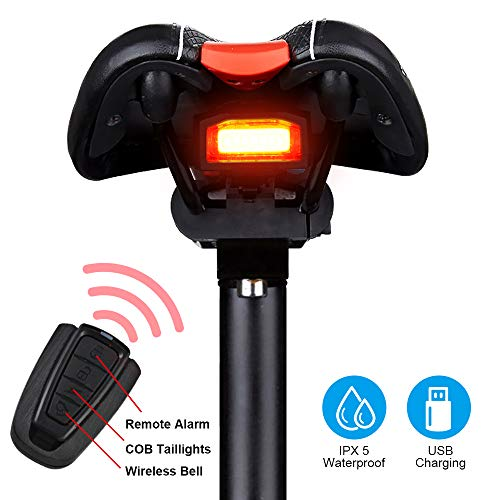 8745af6387be G Keni Bike Tail Light Rechargeable, Anti-Theft Alarm, Warning Electric  Horn, Bike Finder with Remote, Electric Mountain Bike Accessories