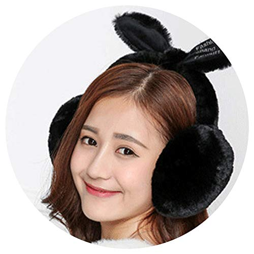 Elegant t muffs Ear Warmers Gifts For Girls Cover Ears,Black