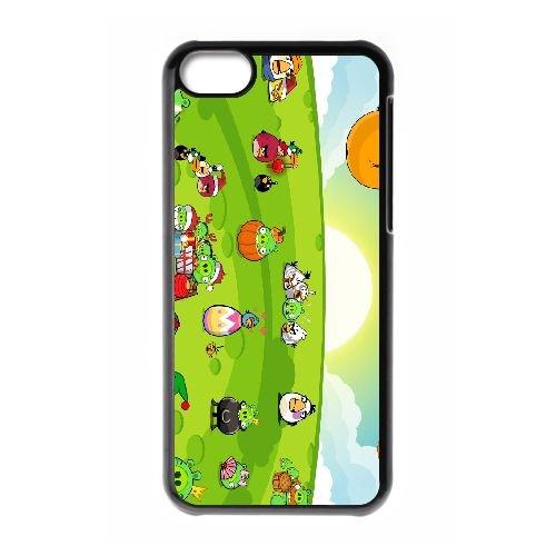 Angry 006 coque iPhone 5c cellulaire cas coque de téléphone cas téléphone cellulaire noir couvercle EEEXLKNBC26742