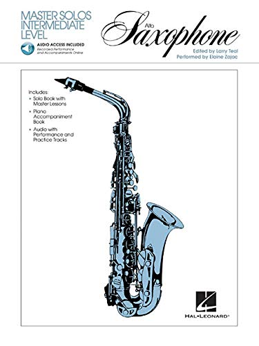 Master Solos Intermediate Level - Alto Sax: Book/Online (Classical Solos Alto Sax)