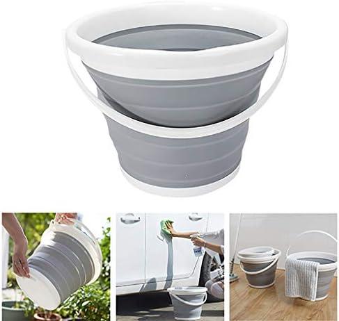 ZDST Eimer aus Kunststoff, faltbar, 10 l, mit Griff für Angeln, Bewässerung des Gartens in der Küche Camping