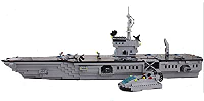 Otulet Aircraft Carrier Army Military Warship Building Bricks Blocks 990pcs Set Toy