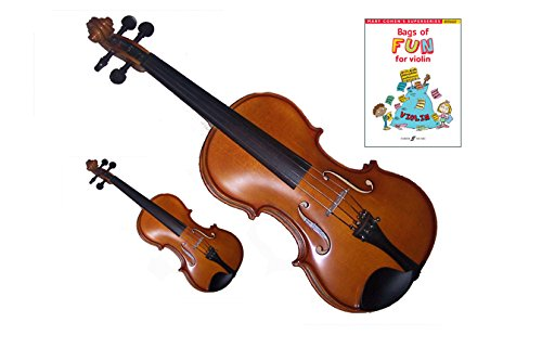 Mommy & Me Violin 2 Pack (4/4 & 1/32 Size) Teach Your Child Violin -1-3 Yr old
