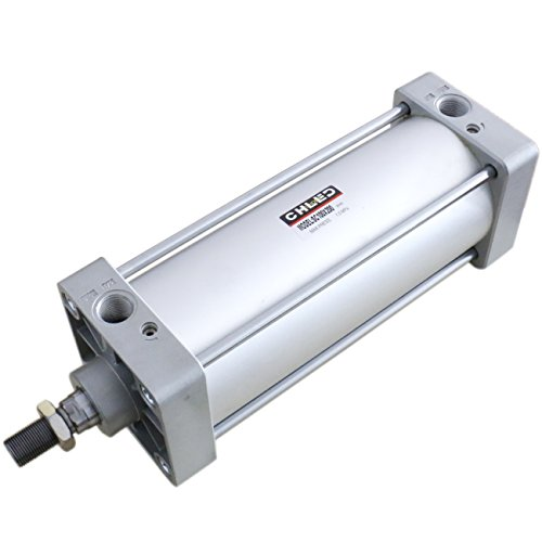 "Baomain Pneumatic Air Cylinder SC 100 x 200 PT1/2; Bore: 4"", Stroke: 8""; Screwed Piston Rod Dual Action"