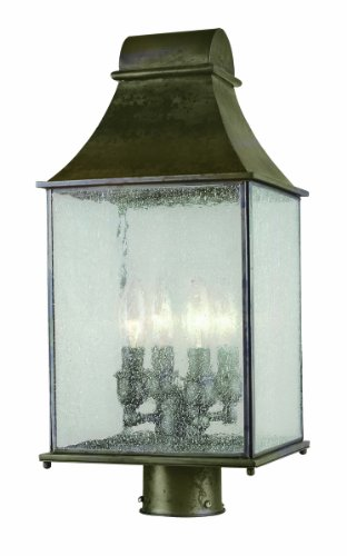 - World Imports 61317-06 Revere Collection Outdoor 4-Light Post Lantern, Flemish