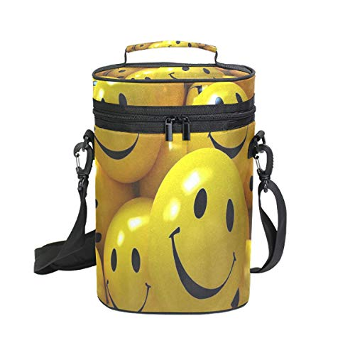 Wine Bag Emoji Face Wallpaper 2 Red Wine Travel Bag Insulated Wine Tote Carrier Cooler Bags with Handle and Adjustable Shoulder Strap - Moet Dom Perignon