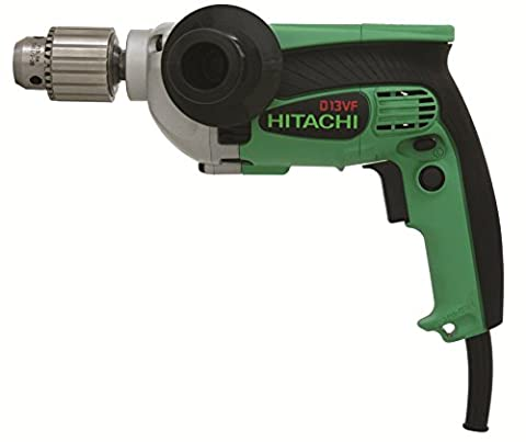 Hitachi D13VF 1/2-Inch 9-Amp Drill, EVS Reversible (Lightweight Corded Drill)