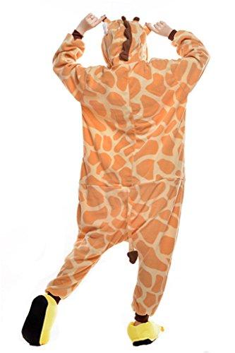 Unisex Onesies Pajamas Kigurumi Cosplay Costume Giraffe Animal Sleepwear (Character Adult Onesie)