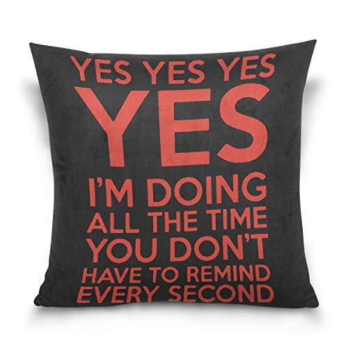 Aibileen Kimi Raikkonen Leave Me Alone Funny Graphic Sarcastic Decorative Cotton Throw Pillow Case ()