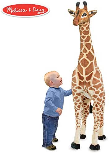 Melissa & Doug Giant Giraffe (Playspaces & Room Decor, Lifelike Stuffed Animal, Soft Fabric, Over 4 Feet Tall)