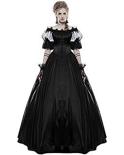 Punk Rave Gótico Traje De Novia Negro Largo Steampunk Vintage Victoriano Graduación Vestido De Gala
