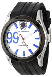 Haurex Italy Men's US333US2 Blaze Stainless Steel Sunray Dial Black Rubber Luminous Watch