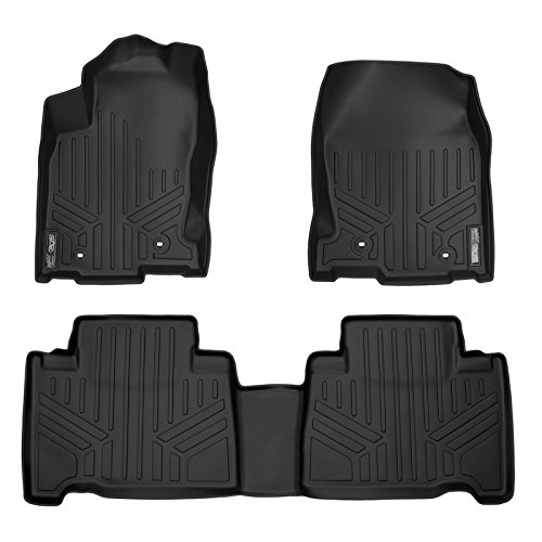 MAX LINER A0168/B0168 Custom Fit Floor Mats 2 Row Liner Set Black for 2015-2019 Lexus NX200t / NX300 / NX300h