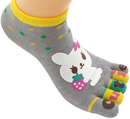 LIULIULIU✿Spring Female No show Socks Plain Cotton Leopard Print Invisible Socks