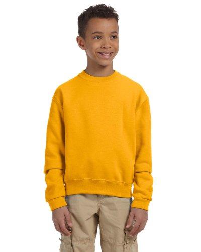 562b Jerzees Sweatshirt (Jerzees Youth 8 Oz, 50/50 NuBlend Fleece Crew, Medium, Gold)