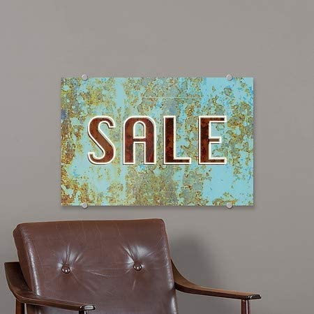 Ghost Aged Blue Premium Acrylic Sign 5-Pack Sale CGSignLab 18x12