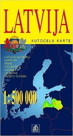Latvia Daugavpils With City Plans of Riga Liepaja and Jelgava