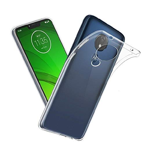 Slim Fit Anti-Rayures BNBUKLTD/® Coque en Gel Silicone Transparent pour Motorola Moto G7 Power Transparent Absorption des Chocs