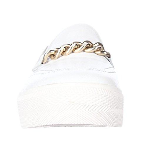 Ash Gold White Chain Joe Strap Sneakers Platform Footwear Fashion r48qwnrF