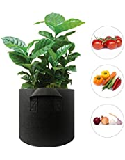 Phomnd 15 Gallon Planter Grow Bag with Handle Thickened Planter Bag Round Shape Container Nonwoven Fabric Garden Plant Pots for Vegetables Flowers Herbs Fruit Planting
