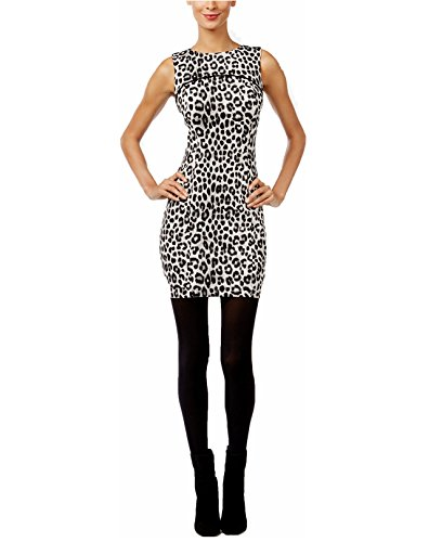 cheetah print mini dress - 8