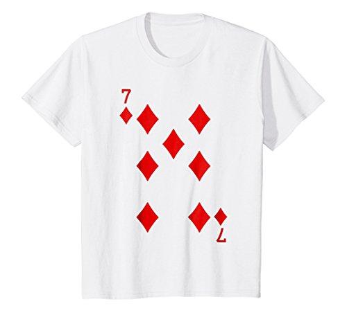 Kids 7 Diamonds Playing Card Funny T-Shirt 10 (7 Diamonds Kids Shirt)