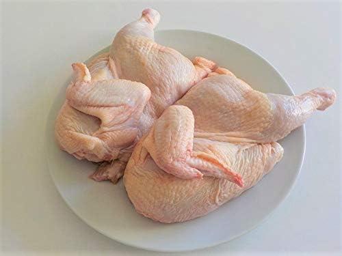 国産若鶏 丸鶏 半割り 小1K~1.2K 10羽 業務用 冷凍 送料無料