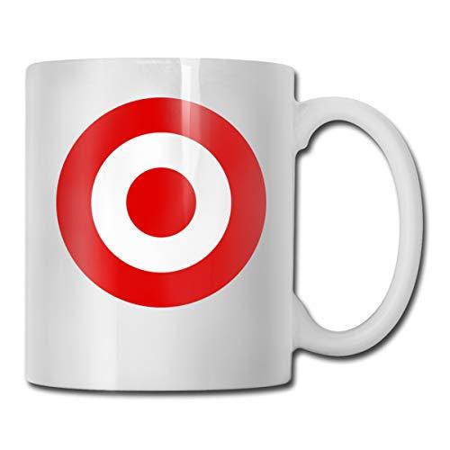 FOECBIR Red Target Bullseye Custom Coffee Mug 11Oz Womens Novelty Ceramic Tea Cup]()