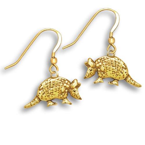 14k Gold Armadillo Earrings by The Magic Zoo (Armadillo Costume)