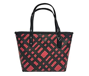 Coach Bag For Women,Black & Red - Tote Bags