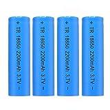 Best 18650 Batteries - 4 Packs Flat Top Batteries High-Capacity 3.7V 2200mAH Review