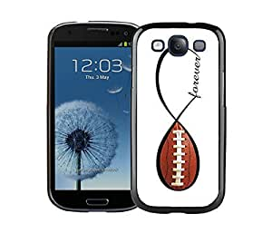 Cute Samsung Galaxy S3 Case Black Cell Phone Back Hard Cover Mobile Accessories American Football Forever Infinity Forever