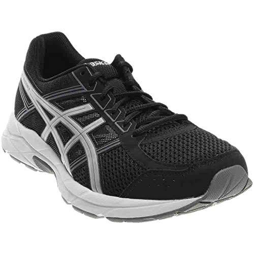 ASICS Men's Gel-Contend 4 Running Shoe, Black/Silver/Carbon, 10.5 4E US