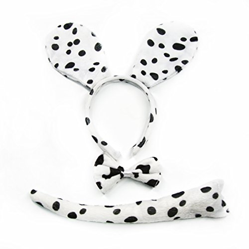 Kids Costumes For Halloween Party Animal Cute Dog Cat Halloween Costumes For Kids (Dalmatian (3Piece)-new1) (Wear Your Halloween Costume)