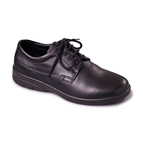 Padders Men's Leather Shoe'Lunar' | Dual Fit System | Extra Wide G-H Fit | 30mm Heel | Free Footcare UK Shoe Horn