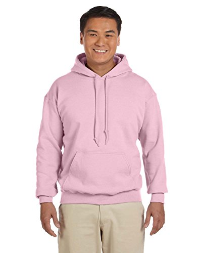 - Gildan 18500 - Classic Fit Adult Hooded Sweatshirt Heavy Blend - First Quality - Light Pink - Small