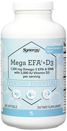 Vitacost Mega EFA-D3 Omega-3 EPA & DHA -- 2,126 mg per serving - 240 -