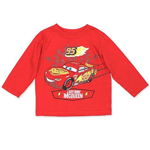 Disney Cars 3 Lightning McQueen Boys Long Sleeve Tee (4T, -