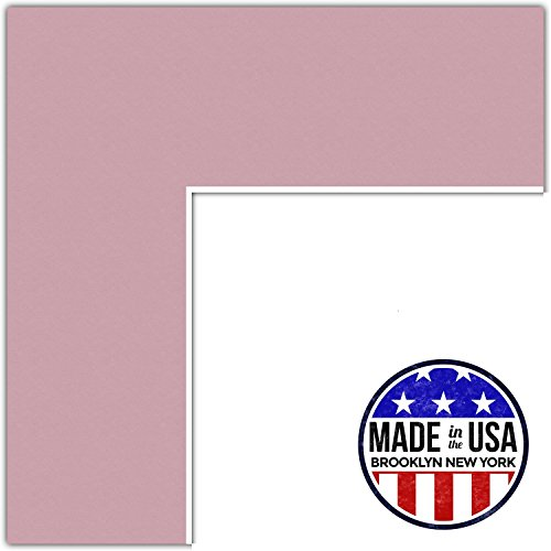 16x20 Soft Pink / Seashell Custom Mat for Picture Frame with 12x16 opening size (Mat Only, Frame NOT - Picture Pink Cheap Frames