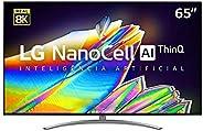 "Smart TV LG 65"" 8K IPS NanoCell WiFi Bluetooth HDR Inteligencia Artificial ThinQAI Google Assistente Alex"