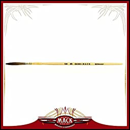 Size 3 Series Extended Quinn Mack Brown Quill With Plain Lacquered Brush Pinstriper, 1 1/4\