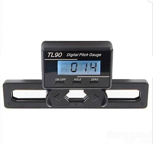 YoCoo TL90 LCD Display Digital Pitch Gauge Screw Pitch Gauge with Gyro Sensor for RC Airplane Helicopter ST250-800 Size