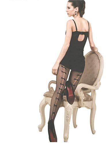 Yelete Killer Legs Women's Queen Plus Size Fishnet Pantyhose (Bow Tie -