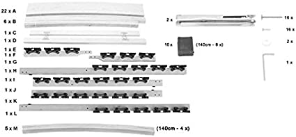 28 Leisten 180 kg - 7 Zonen Lattenrost 90x200 cm 90x200 cm i-flair/® H/ärte- und Kopfteil verstellbar mit Mittelgurt