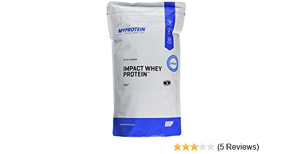 Amazon.com: MyProtein Impact Whey Protein , Latte, Pouch, 2.2 lbs: Health & Personal Care