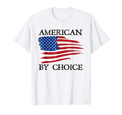 New Citizenship T-Shirt, American By Choice, Proud Citizen (Citizen White T-shirt)