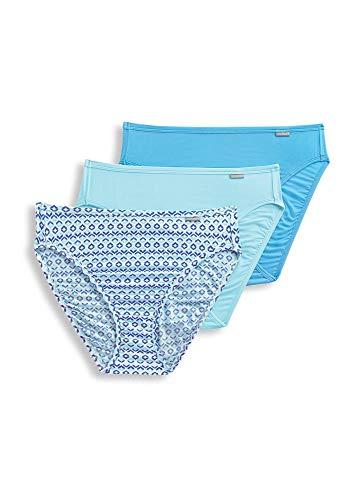 (Jockey Women's Underwear Supersoft French Cut - 3 Pack, Ombre Ogee/Light Teal/Heavenly Blue, 9)