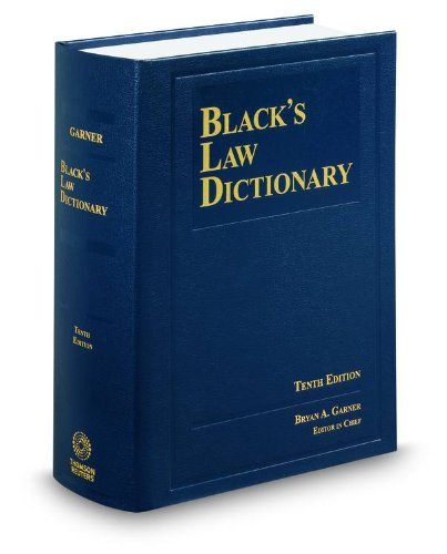 Black's Law Dictionary, 10th Edi...