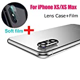 Sinwo New Metal Rear Camera Lens Case Cover Protector Accessory+Film for iPhone Xs/XS Max (Black)