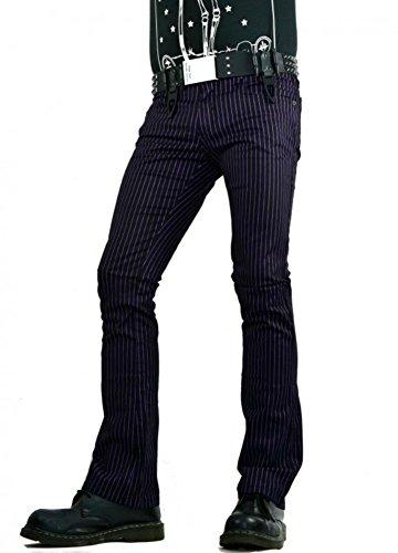 Tripp Gothic Punk Rocker Exploited Joker Pinstripe Skinny Jeans Pants (30)